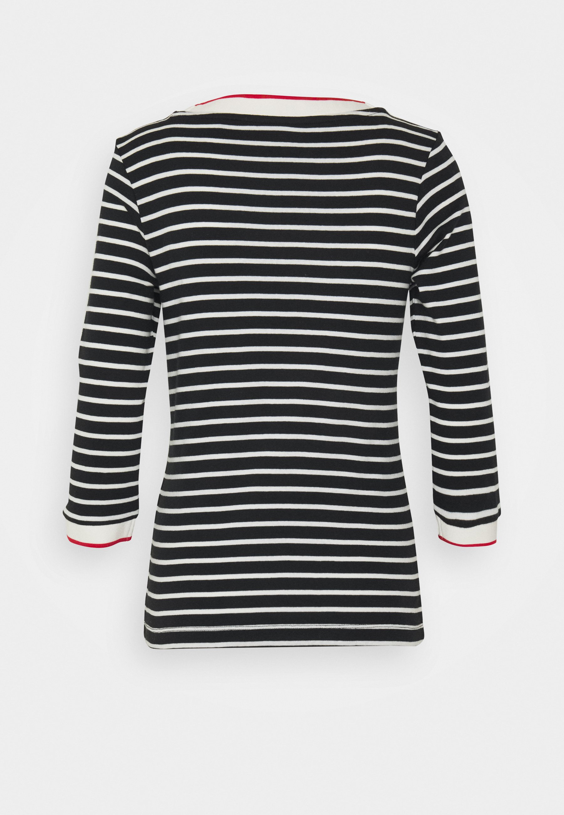 Esprit Striped - Topper Langermet Black/svart