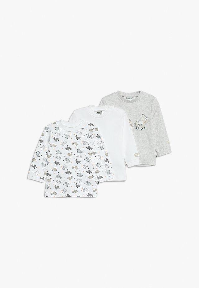 LANGARM 3 PACK - Maglietta a manica lunga - offwhite/grau