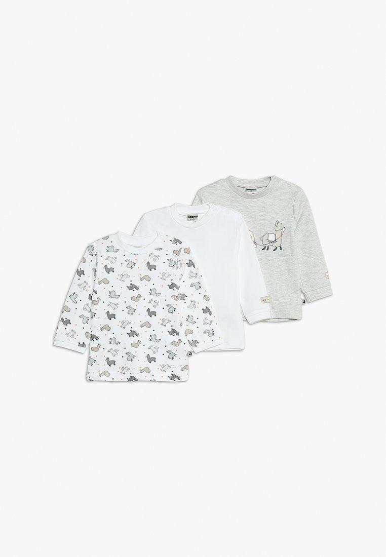 Jacky Baby - LANGARM 3 PACK - T-shirt à manches longues - offwhite/grau