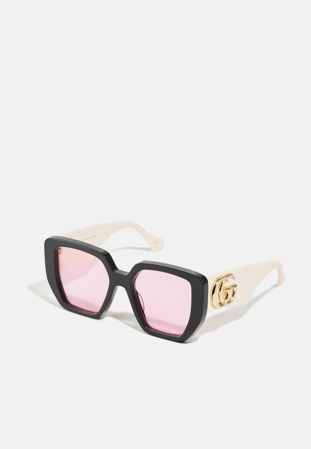 Gafas de sol - black/white/pink