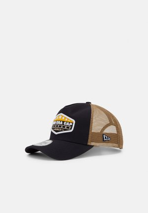 MXMXX PATCH TRUCKER - Kšiltovka - dark blue/brown