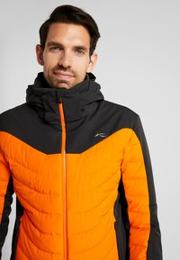 Kjus - MEN SIGHT LINE JACKET - Ski jacket - black/orange - 4