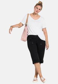 Sheego - Shorts - black - 1