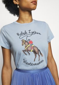 Polo Ralph Lauren - WSTRNWR SHORT SLEEVE - T-shirts med print - estate blue - 4