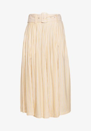 YASEMBER MIDI SKIRT - Falda acampanada - golden rod/star white