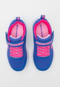Skechers - MICROSPEC - Trainers - blue/neon coral - 3