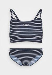 Speedo - ENDURANCE PRINTED THINSTRAP SET - Bikini - true navy/white - 4