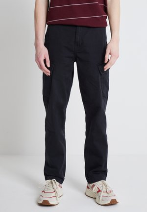 Cargo trousers - jet black
