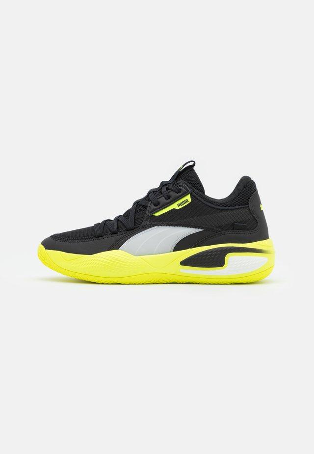 COURT RIDER - Chaussures de basket - black/yellow alert