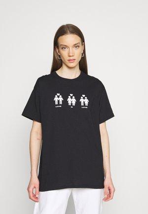 LOVE IS LOVE HUMAN - T-shirt z nadrukiem - black