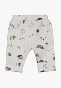 Noppies - PANTS REGULAR COVENDALE BABY - Stoffhose - whisper white melange - 1