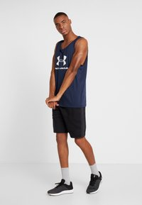Under Armour - SPORTSTYLE LOGO - Top - dark blue/white - 1
