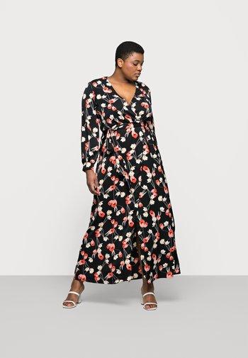 PLUNGE DRESS FLORAL