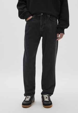 DAD-FIT - Straight leg jeans - mottled black