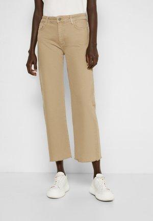 EDEN - Straight leg jeans - sand