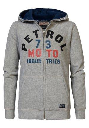 Zip-up hoodie - light grey melee