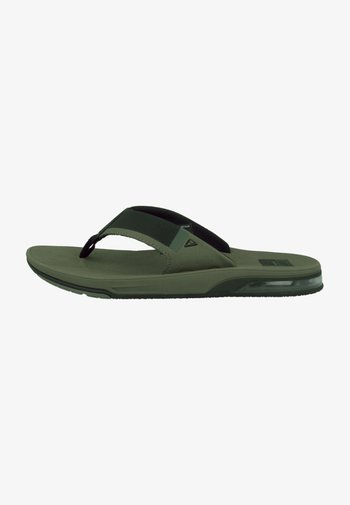 FANNING LOW - T-bar sandals - olive
