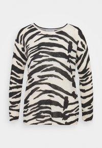 BLEND ZEBRA SWEATER - Jumper - black / white