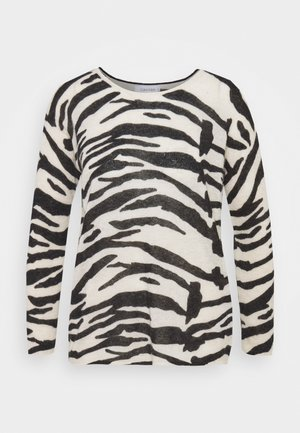 BLEND ZEBRA SWEATER - Jumper - black / white