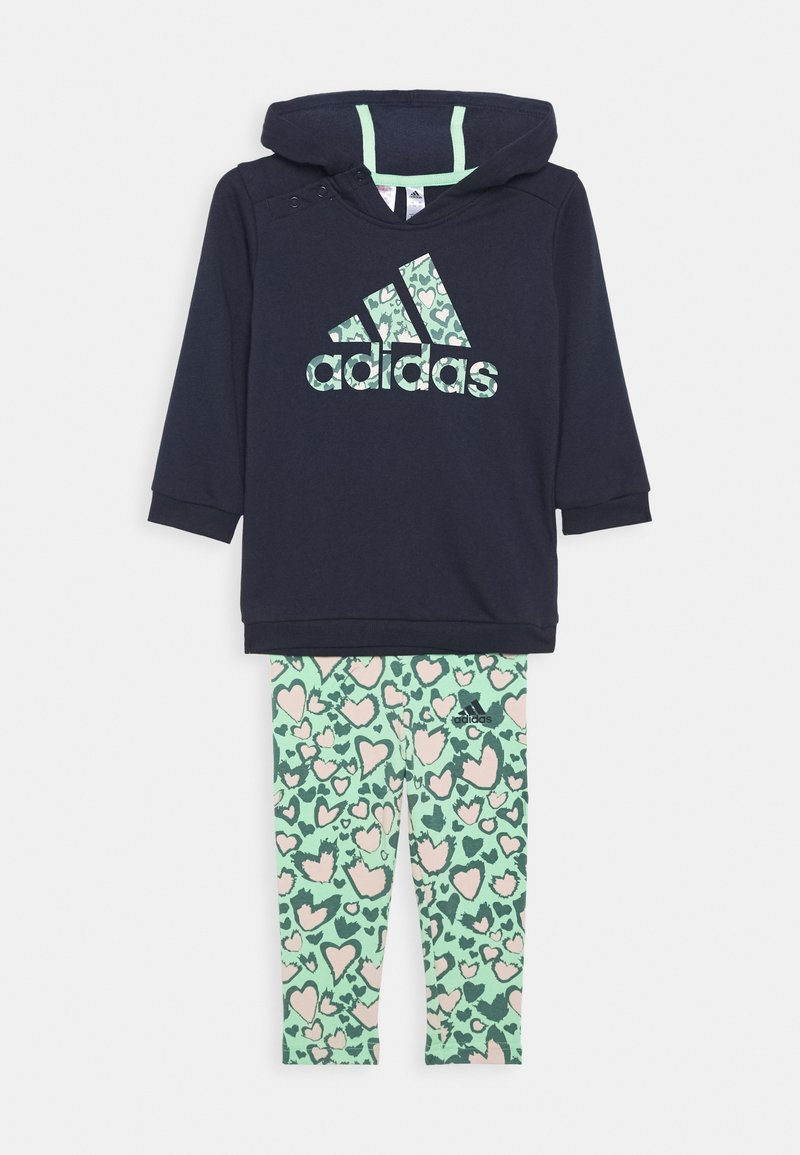 adidas Performance - FAVOURITES TRAINING SPORTS TRACKSUIT BABY SET - Tracksuit - pink