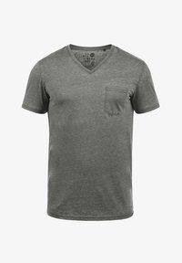 Solid - V-SHIRT THEON - Basic T-shirt - mid grey - 3