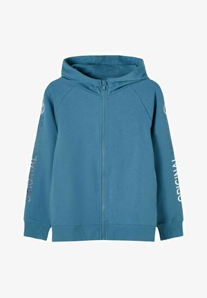 MIT REISSVERSCHLUSS PRINT - Zip-up hoodie - real teal
