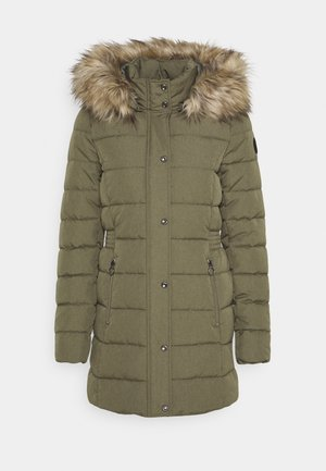 ONLLUNA QUILTED COAT - Vinterkappa /-rock - deep lichen green