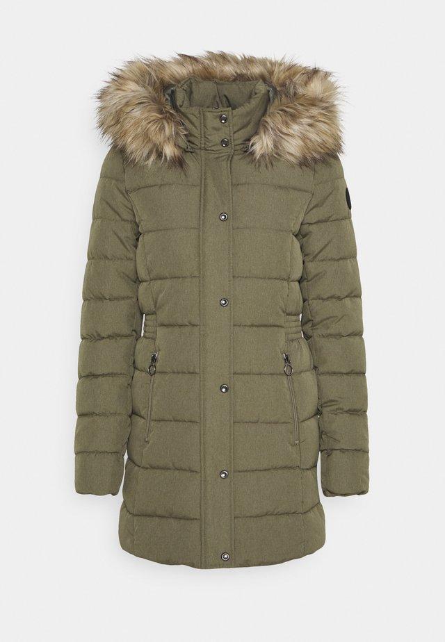 ONLLUNA QUILTED COAT - Winter coat - deep lichen green