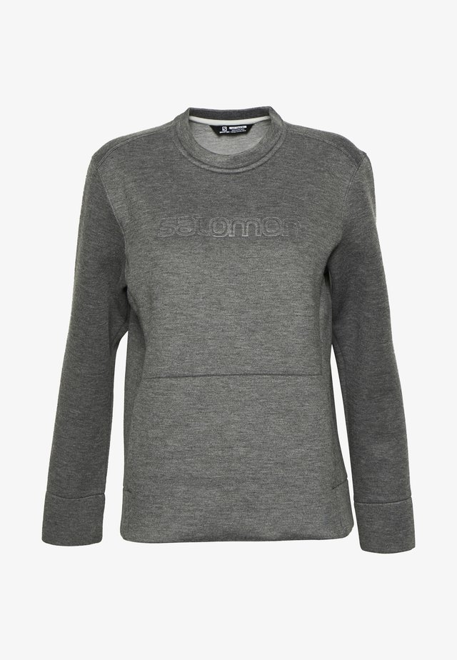 SIGHT CREW NECK - Sweatshirt - ebony/alloy/heather