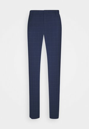 FLEX SLIM FIT CHECK PANT - Suit trousers - black