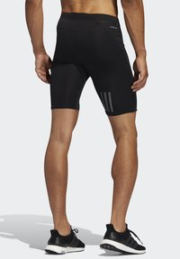 adidas Performance - OWN THE RUN SHORT TIGHTS - kurze Sporthose - black - 1
