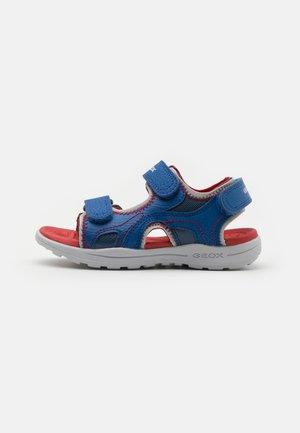 VANIETT BOY - Walking sandals - royal/red