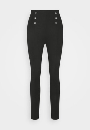 Punto leggings with button detail - Legging - black