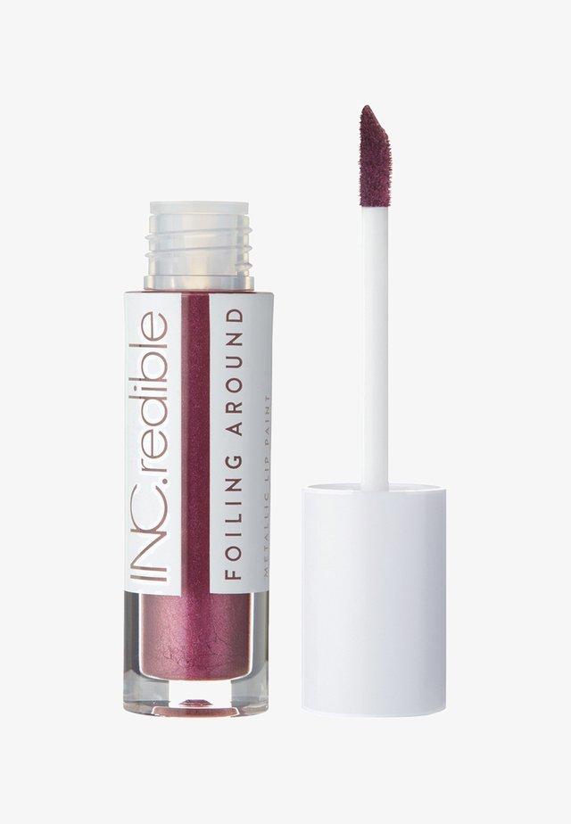 INC.REDIBLE FOILING AROUND METALLIC LIP PAINT - Liquid lipstick - 10077 oh yeah, you did