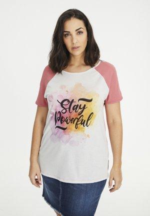 STAY POWERFUL - T-shirt print - rosa