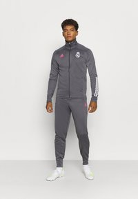 adidas Performance - REAL MADRID AEROREADY FOOTBALL TRACKSUIT SET - Klubové oblečení - grey - 0