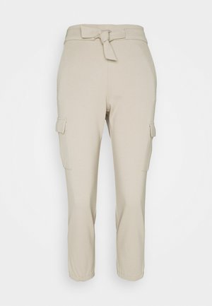 ONLPOPTRASH BELT PANT - Cargo trousers - humus