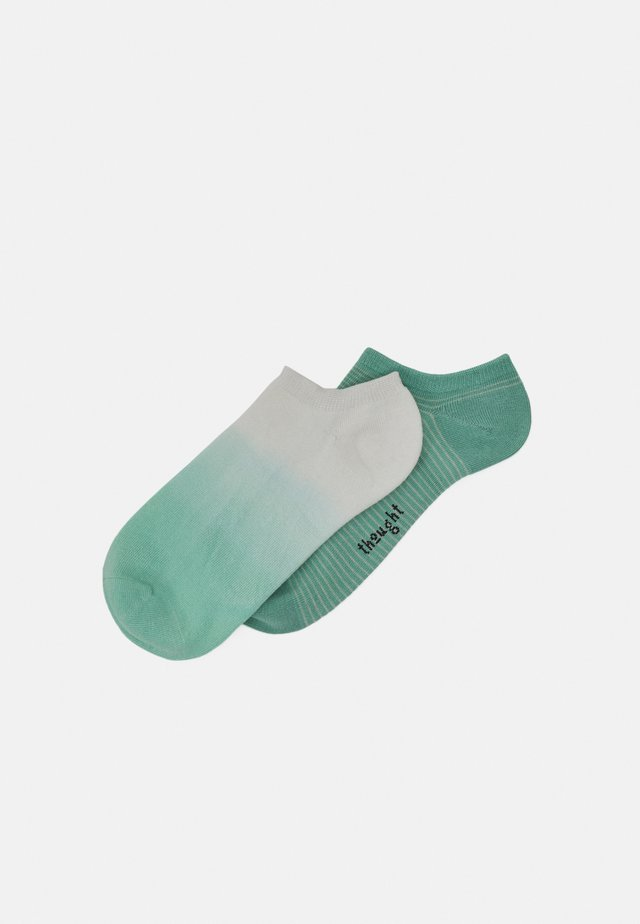 MERCY DIP DYE PEGGY STRIPE SOCKS 2 PACK - Socks - jade green