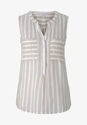 Bluzka - offwhite sand stripe