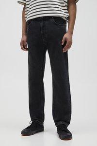 PULL&BEAR - Jeans straight leg - mottled dark grey - 0