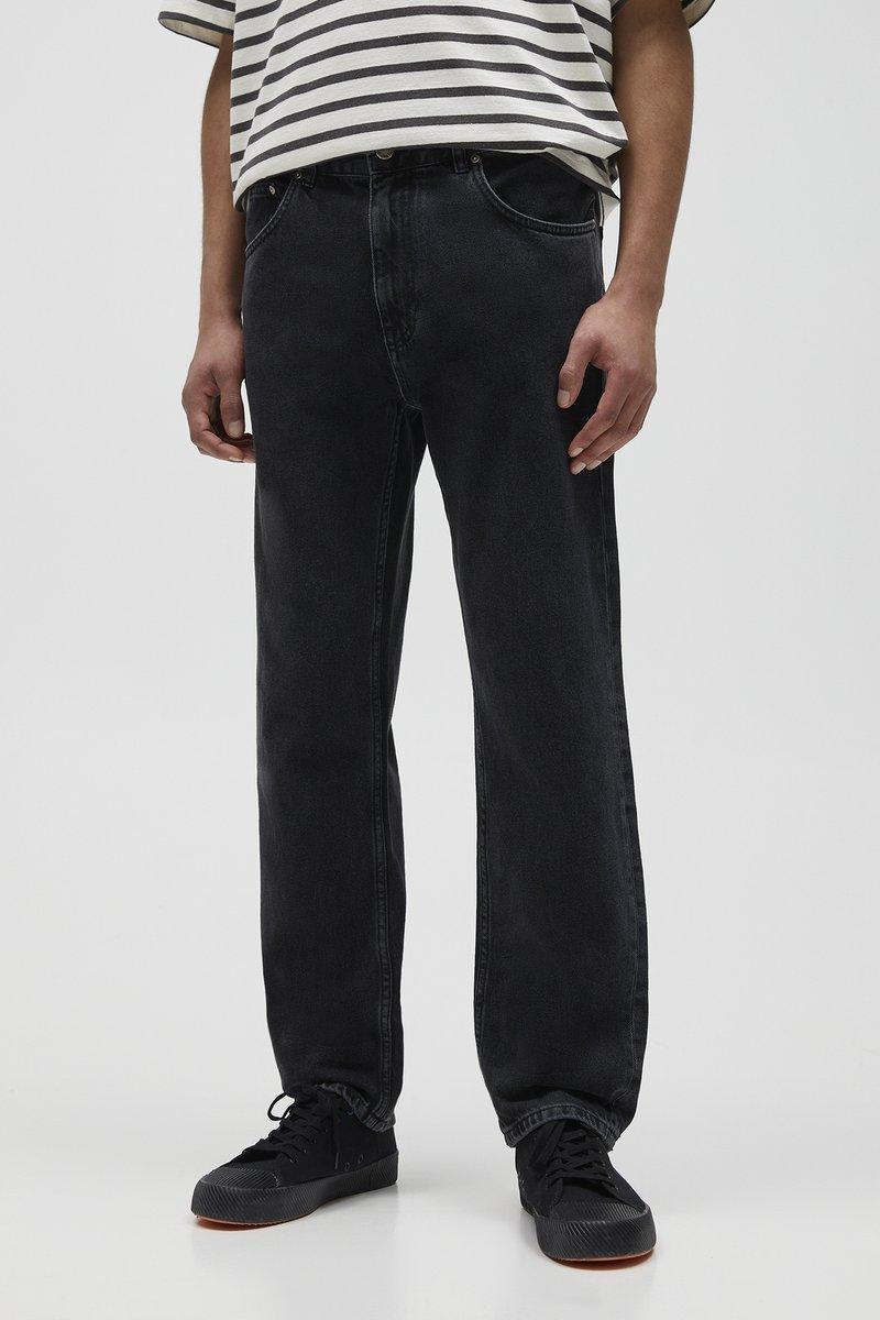 PULL&BEAR - Jeans straight leg - mottled dark grey