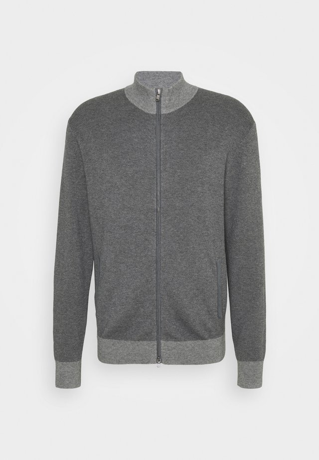 TONAL ZIP - Cardigan - grey
