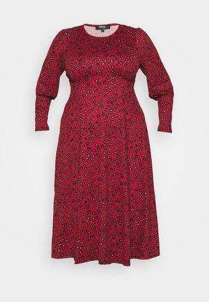 Mikinové šaty - red animal