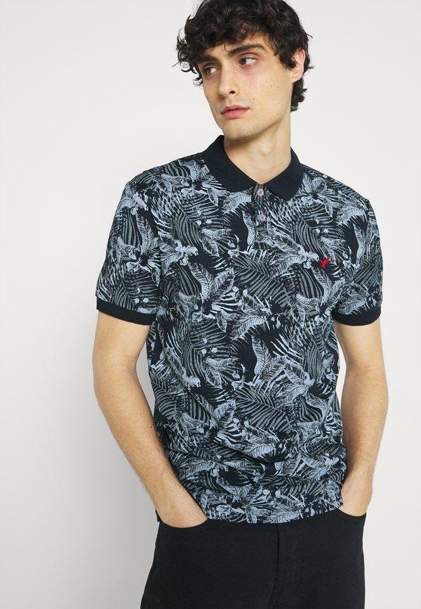 Pier One FLORAL - Koszulka polo - dark blue/granatowy Odzież Męska DTYQ
