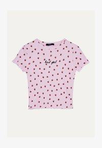 Bershka - MIT TEXTUR UND PRINT - T-Shirt print - pink - 5
