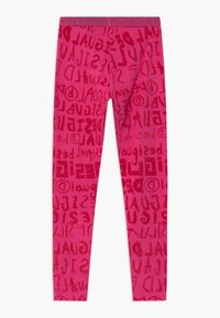 Desigual - MONOGRAM - Leggings - Trousers - red - 1