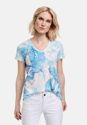 MIT AUSBRENNER-EFFEKT - Print T-shirt - blue