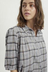 My Essential Wardrobe - MWBELLE PUFF - Button-down blouse - charcoal gray check - 3