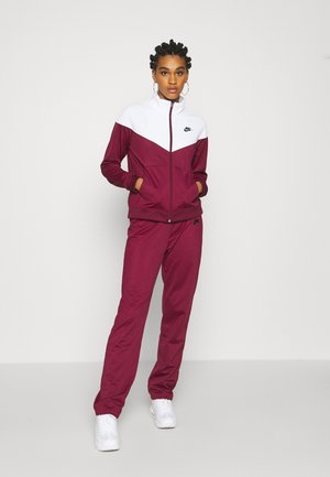 SUIT SET - Tracksuit - dark beetroot/white