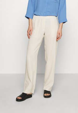 HOYS STRAIGHT PANTS - Pantalones - warm white